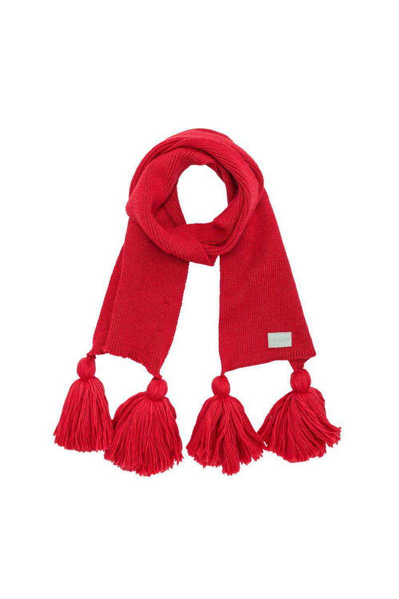 Ellis scarf in red knit