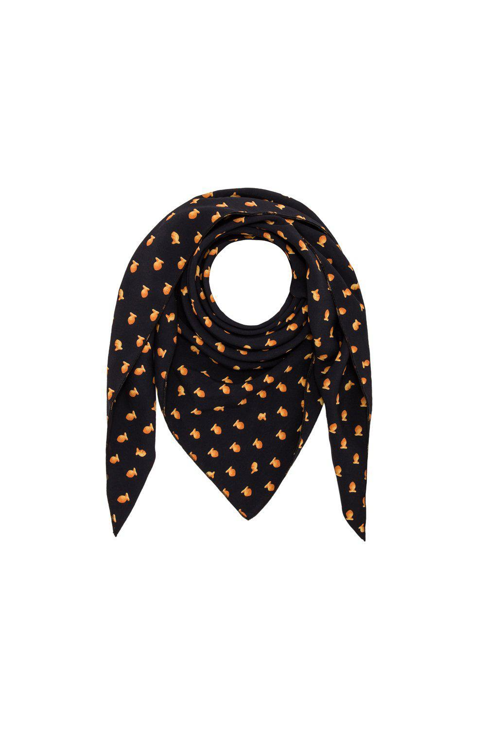 Scarf triangle in goldfish print