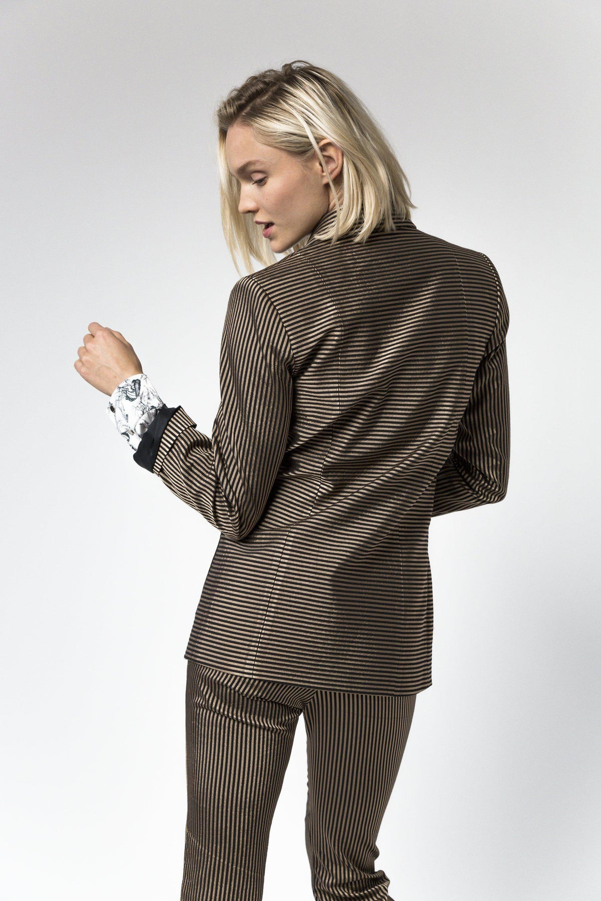 Sonny Crockett blazer in gold stripes