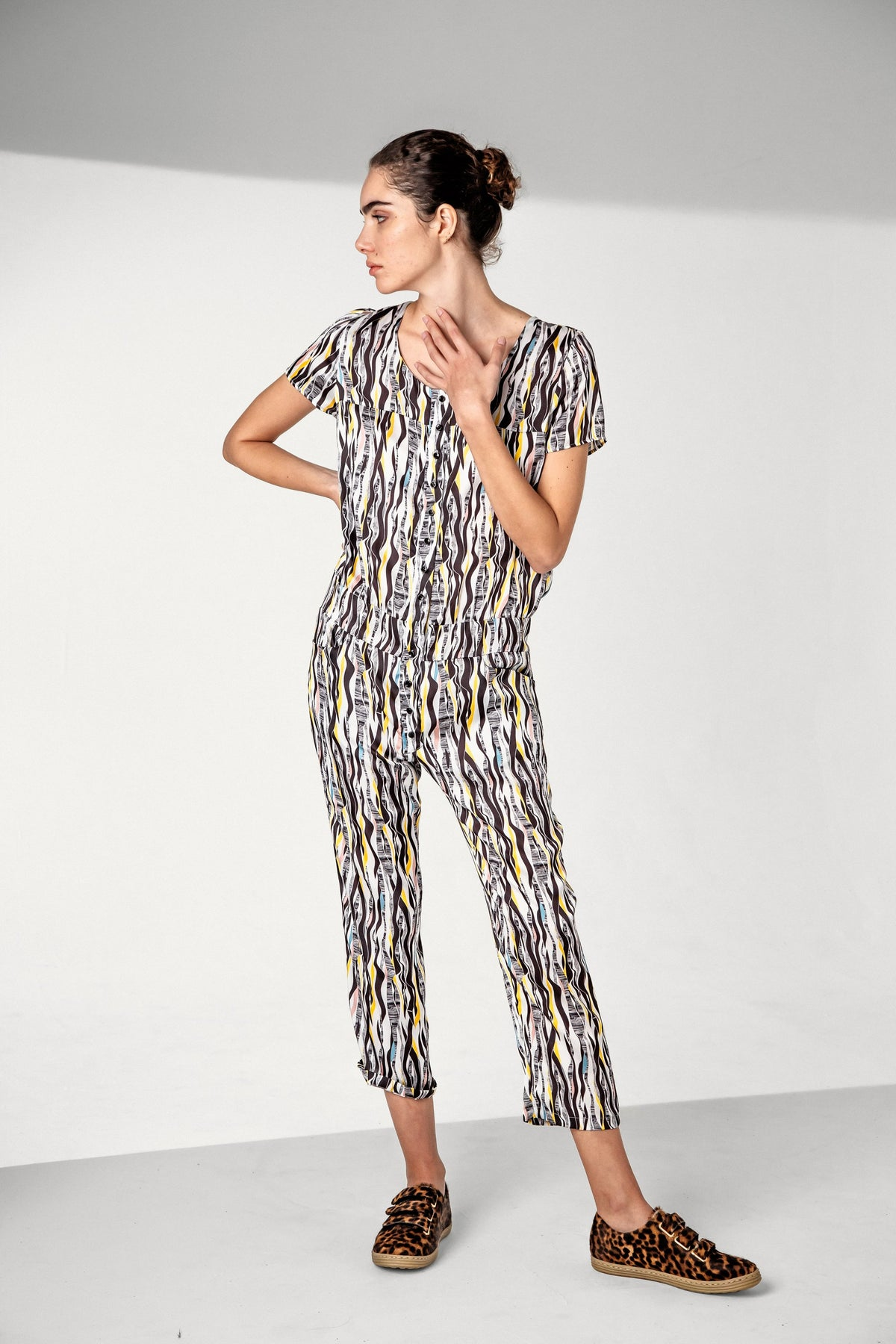 Woods jumpsuit in roots print