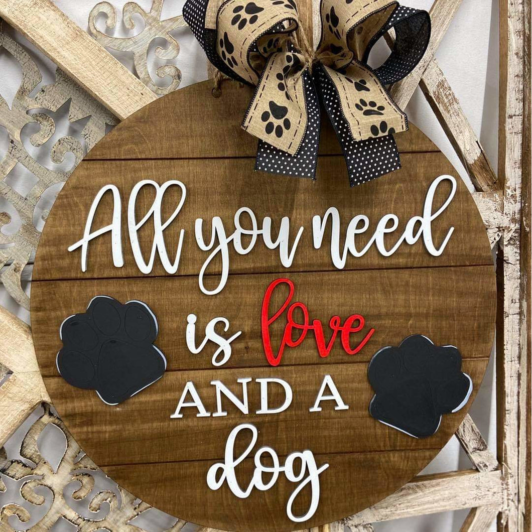 All you need is love and a dog dior hanger