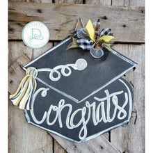 Load image into Gallery viewer, GRADUATION BUNDLE (grad cap door hanger and grad hat banner)