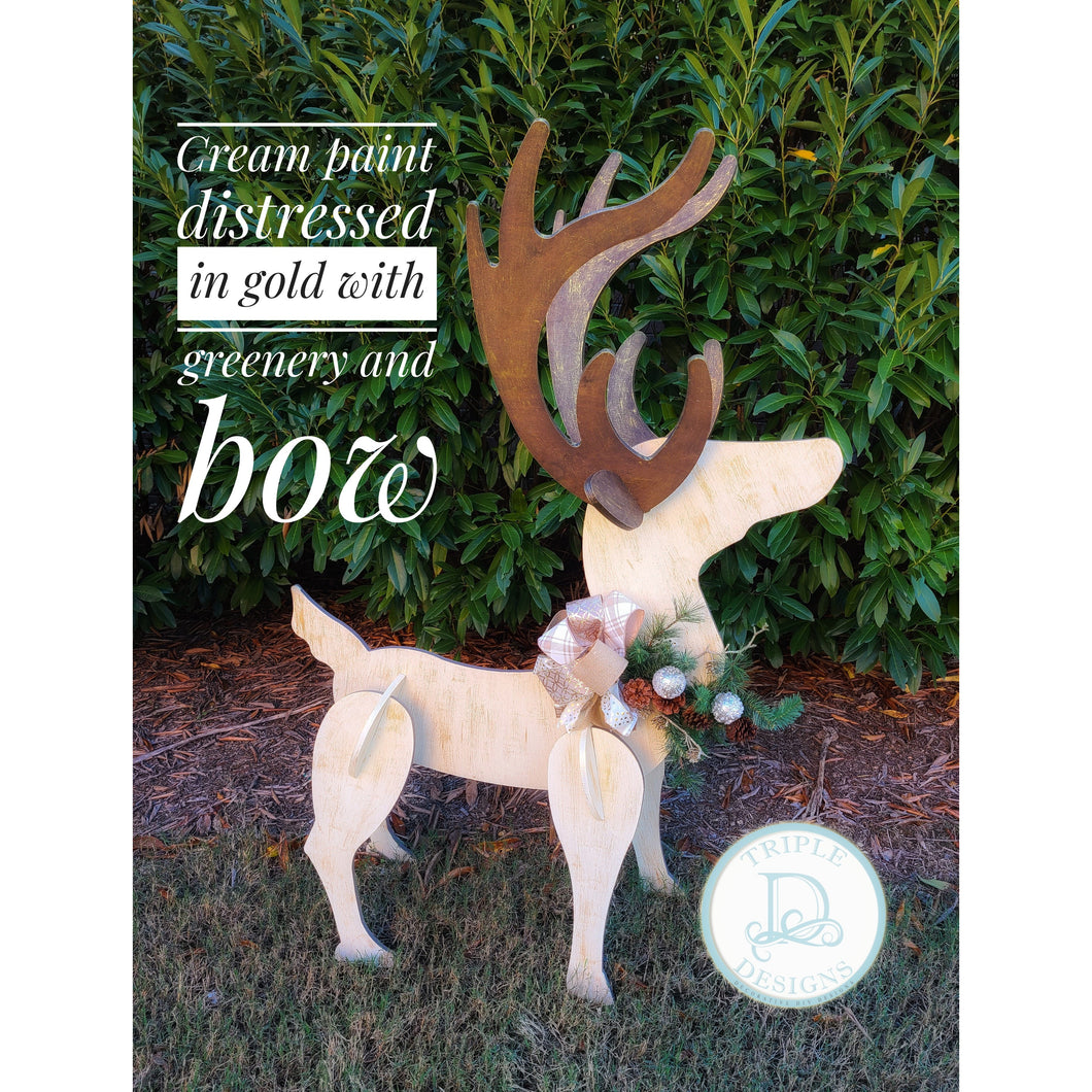 Cream distressed Yard Buck