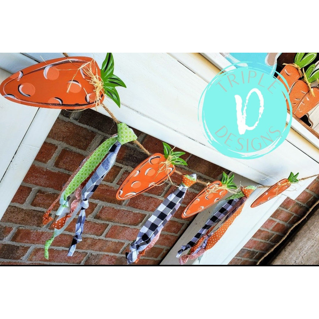 Whimsical Carrot Garland