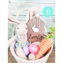 Load image into Gallery viewer, Easter Basket Tags with 3D Bunny
