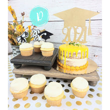 Load image into Gallery viewer, 3D Cupcake Toppers/Dozen/Assorted/Diploma/Grad Hat/2021
