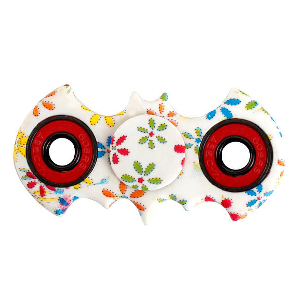 Patterned Floral Flower Batman Fidget Spinner toy
