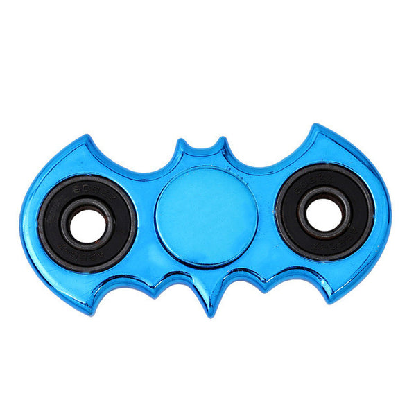 Blue Crome metal batman fidget spinner marvel dc