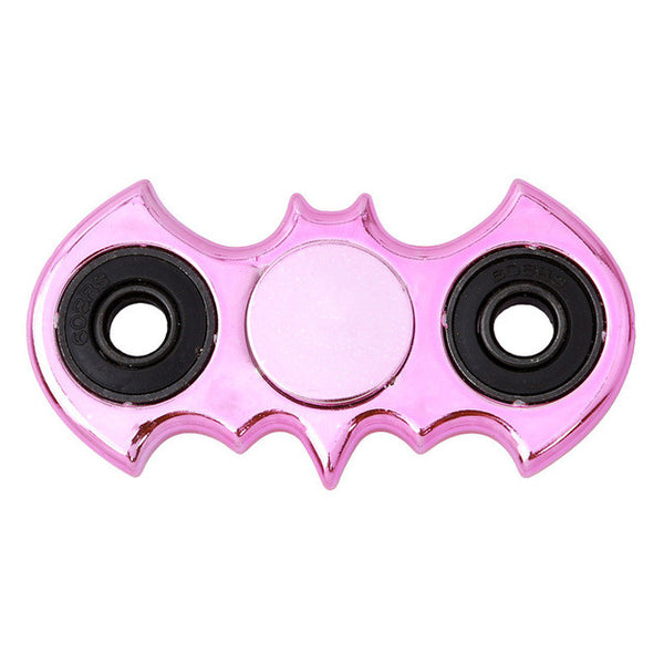 Pink Crome metal batman fidget spinner marvel dc