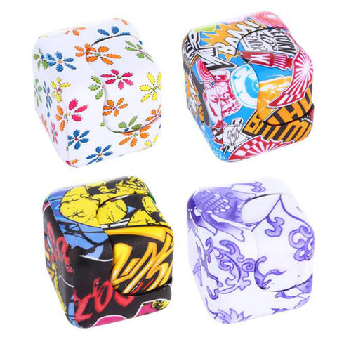 Patterned Fidget Stress Cube