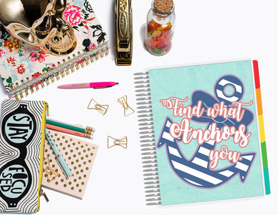 Anchor Yourself | Planner Cover, Ring-bound Dashboard, & TN Double-Dashboard