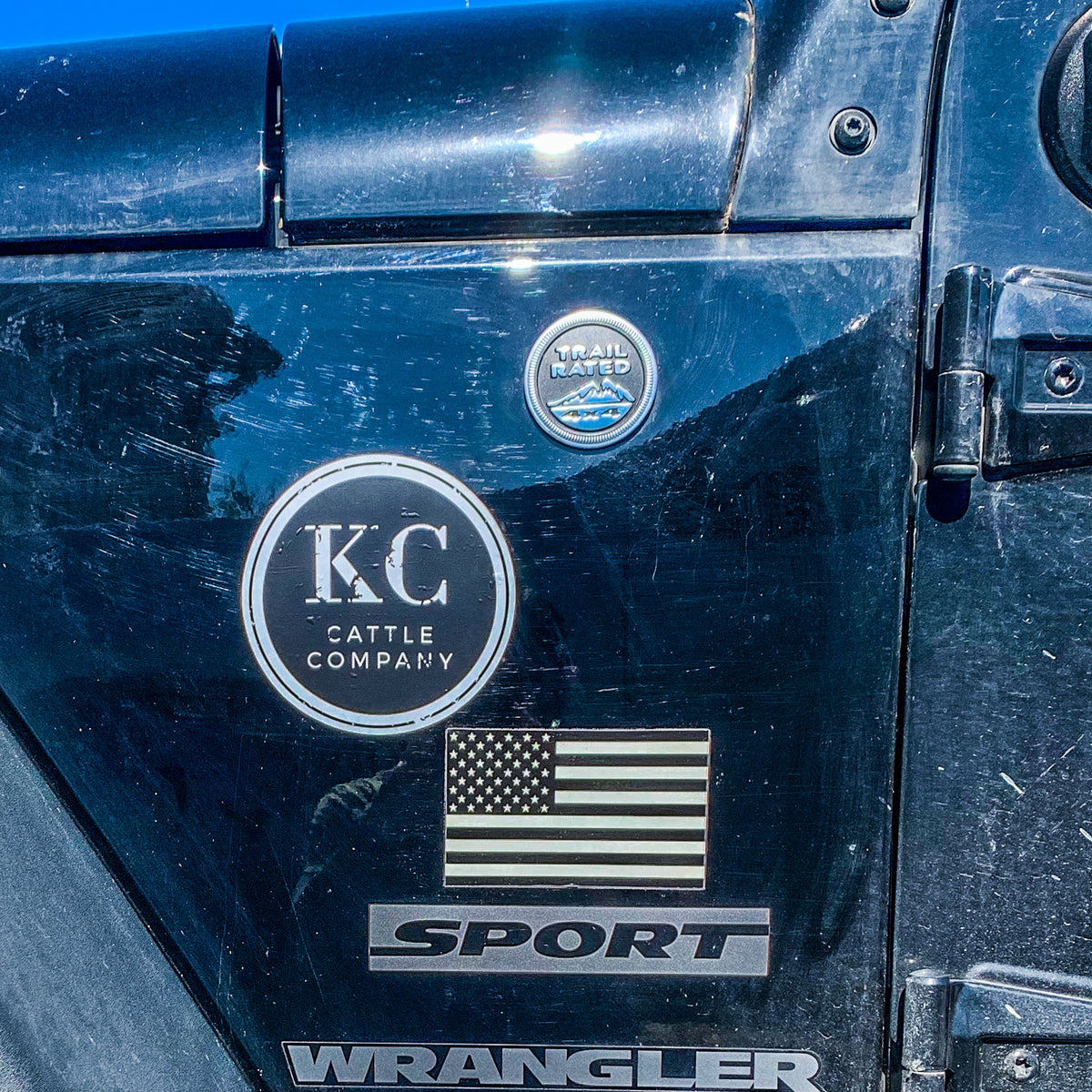 KC Cattle Co Decorative Sticker