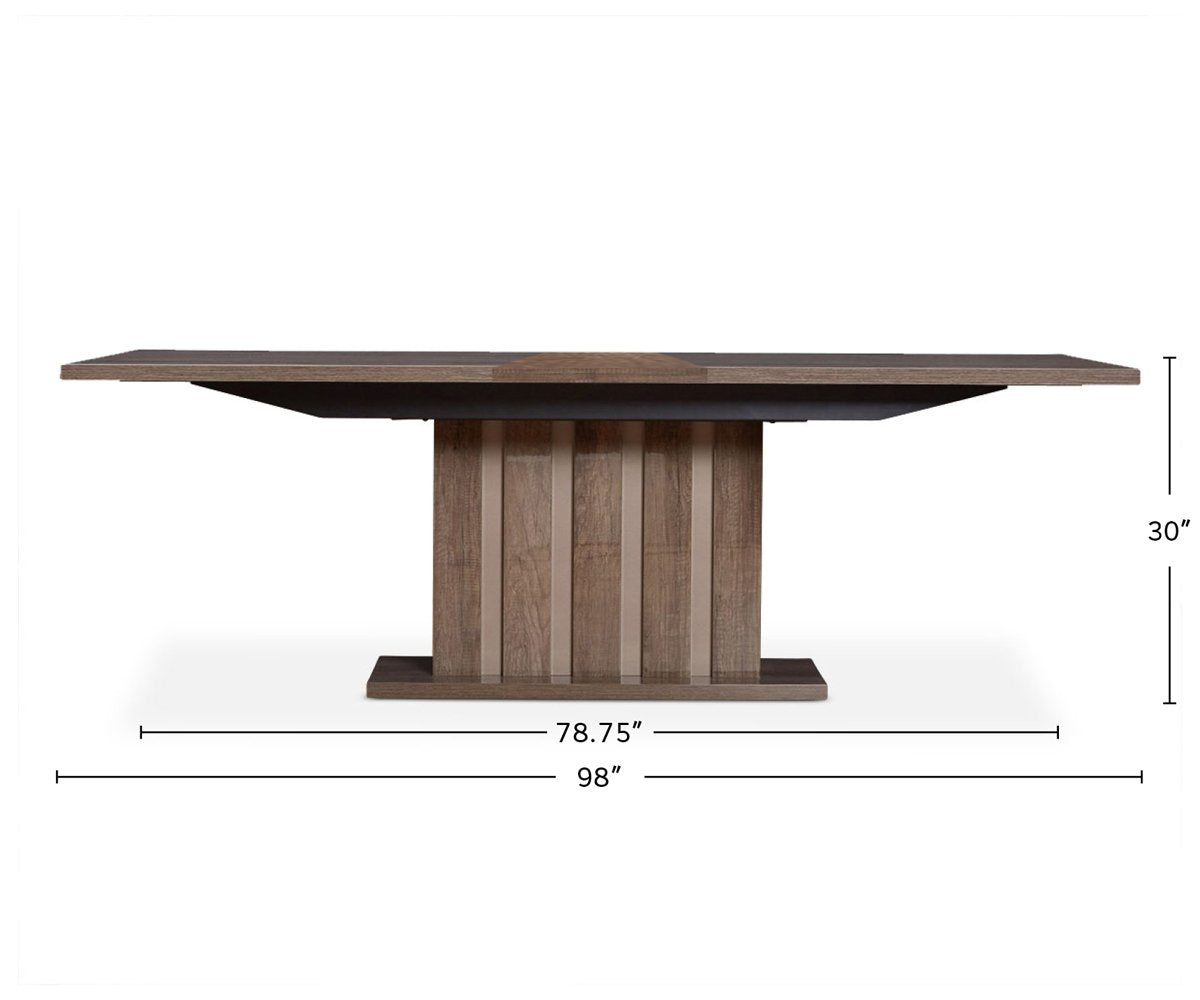 Akana Extension Dining Table dimensions