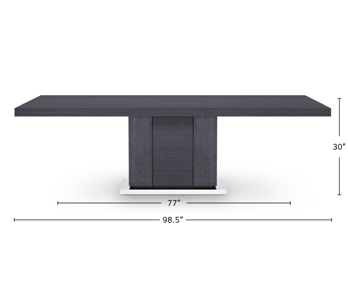 Mondiana Extension Dining Table dimensions