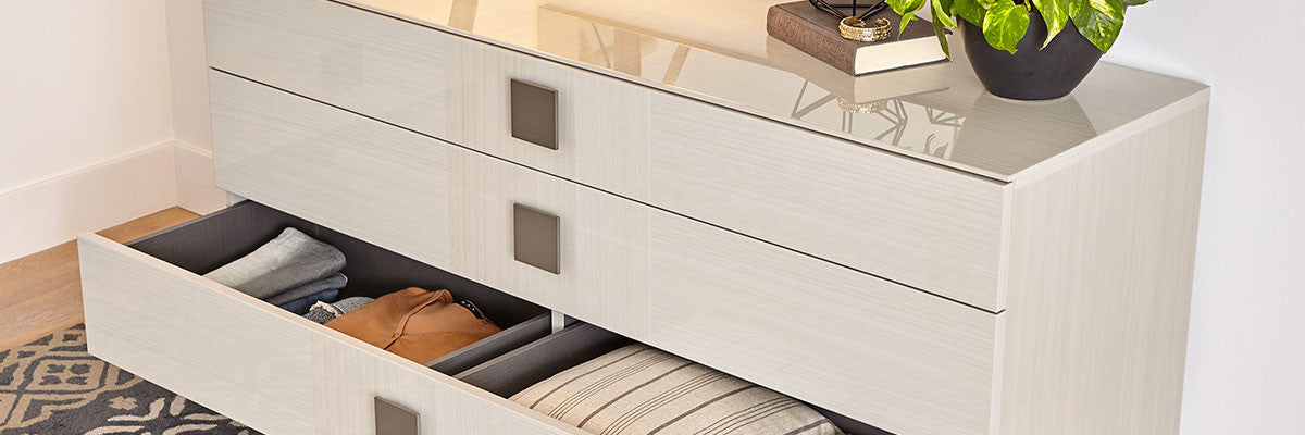 contemporary classic nordic inspired bedroom storage - Bedroom Storage
