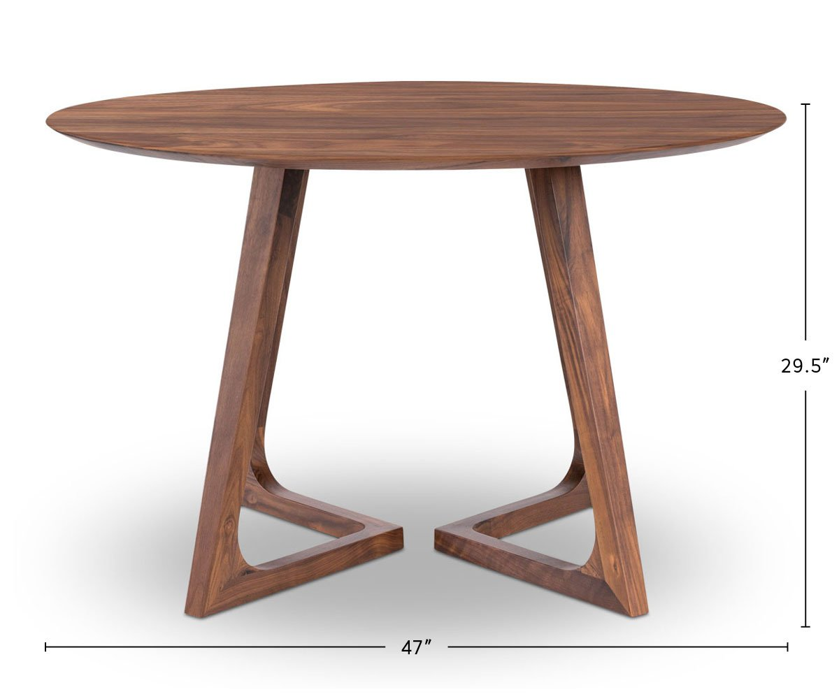Cress Round Dining Table dimensions