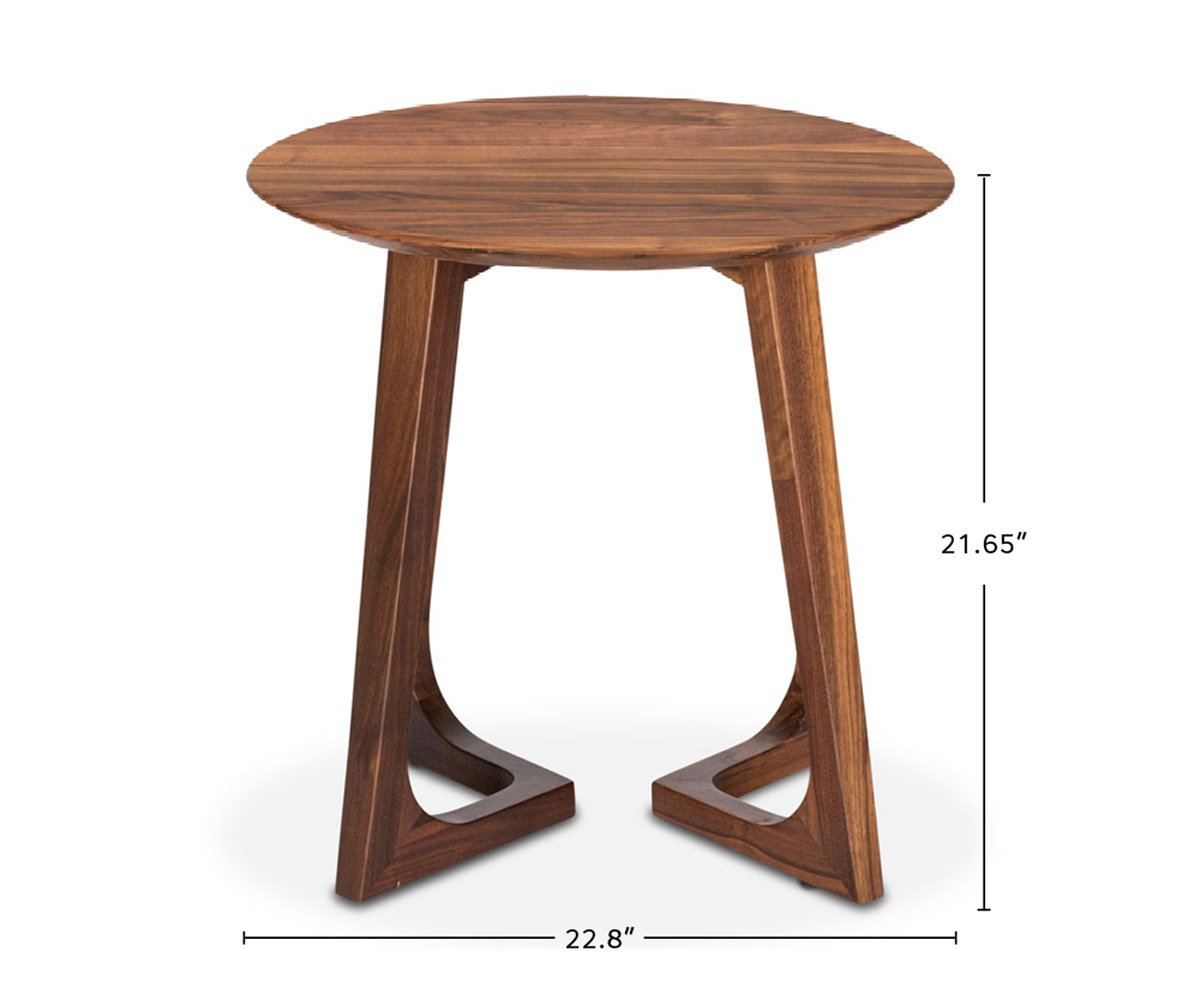 Cress End Table Round dimensions