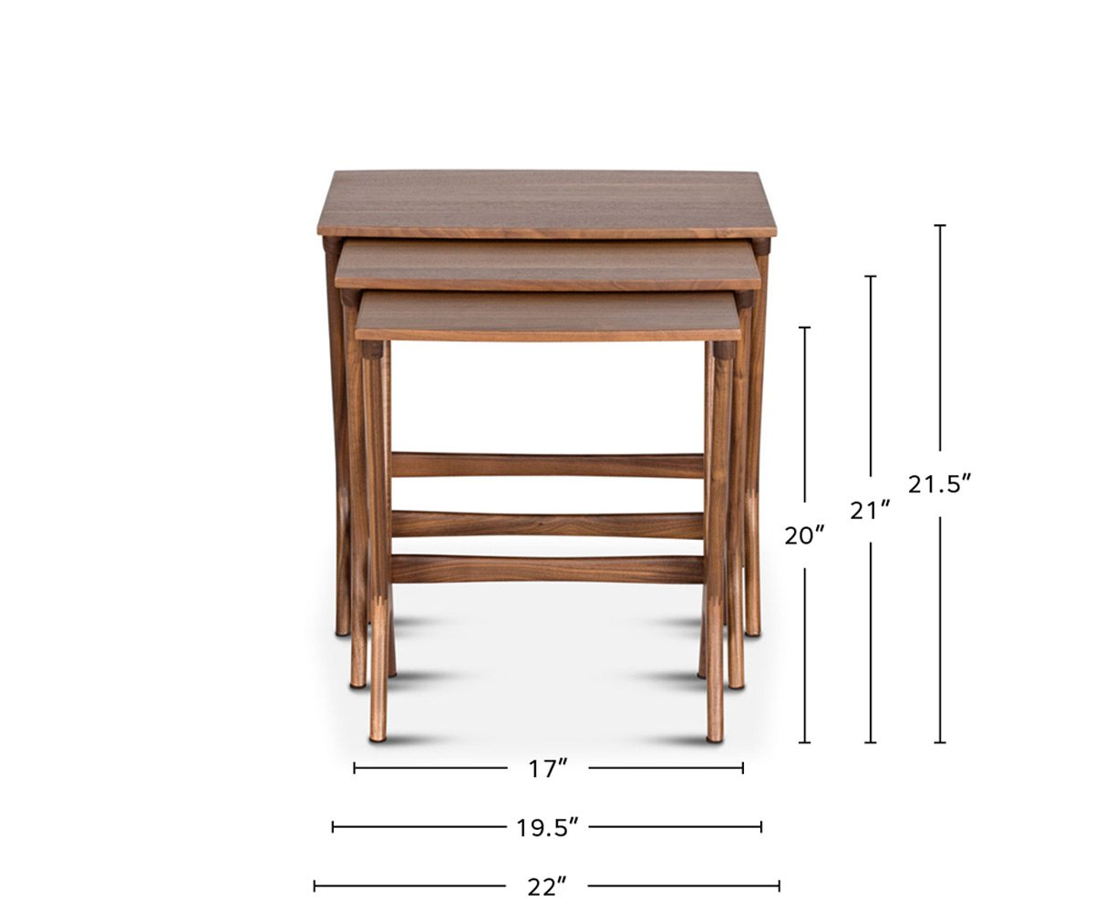 Neria Nest Of Tables dimensions