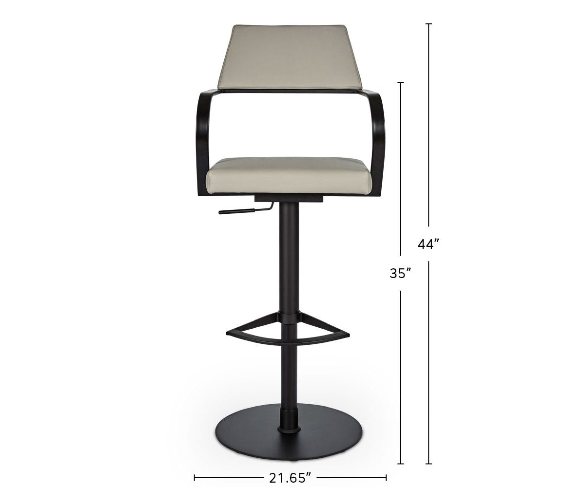 Tovi Adjustable Counter and Bar Stool dimensions