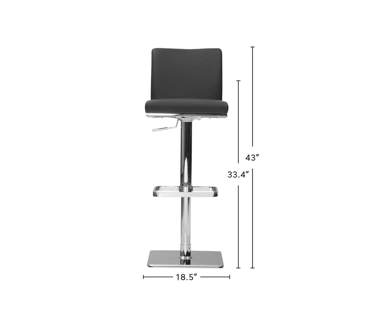 Alma Adjustable Counter and Bar Stool dimensions