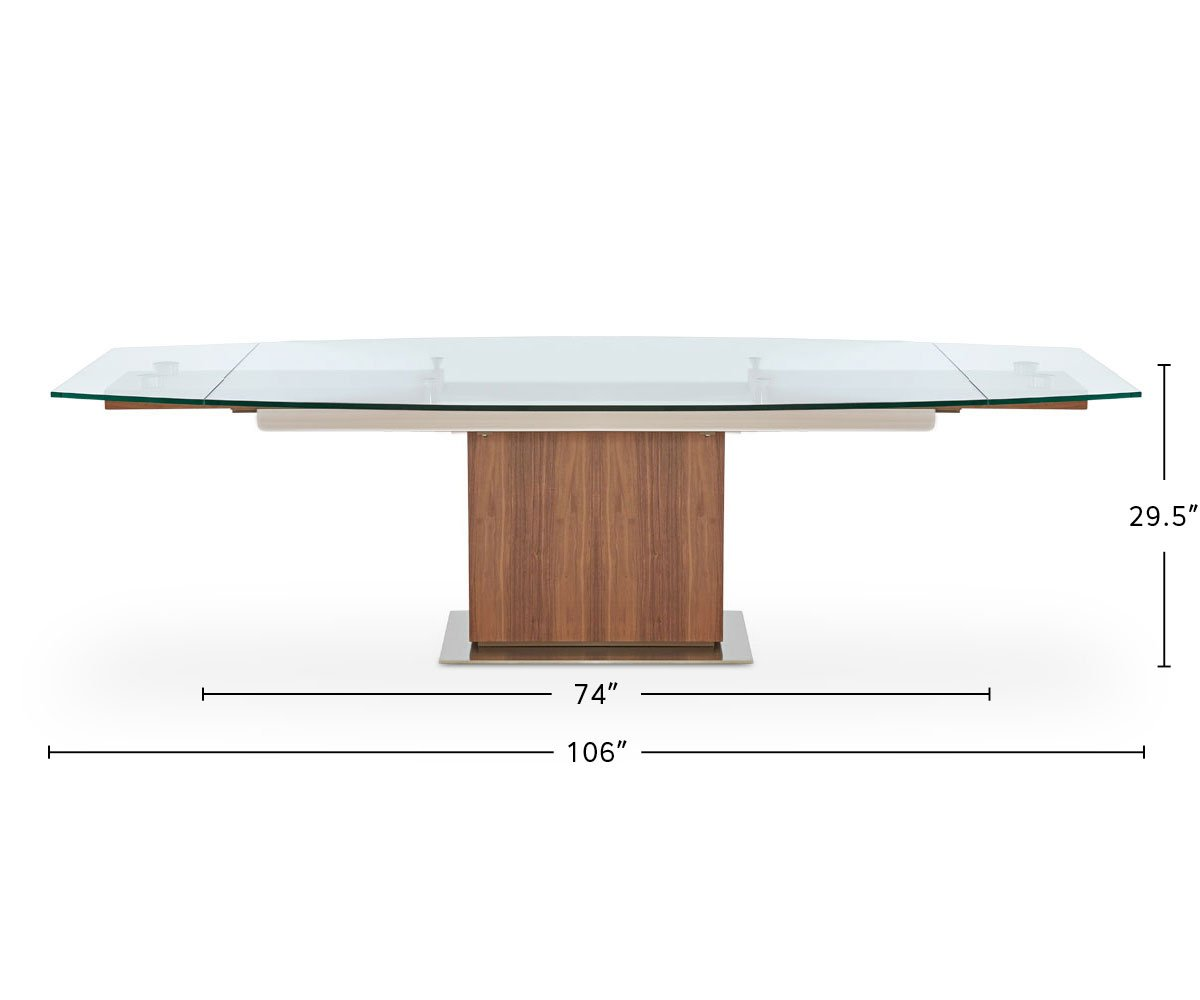 Ragnar Extension Dining Table dimensions