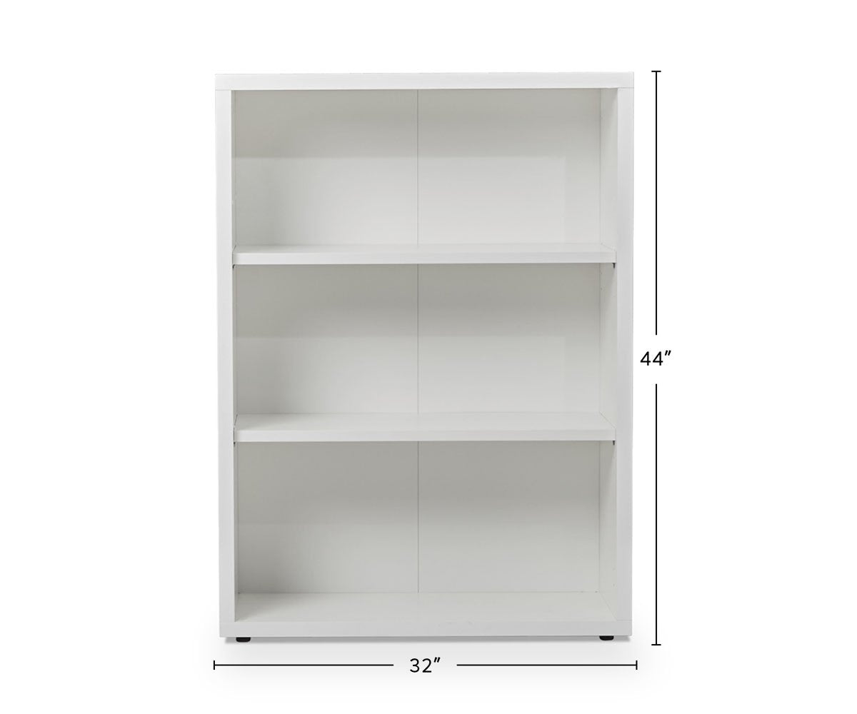 Gammel Low Bookcase - White dimensions