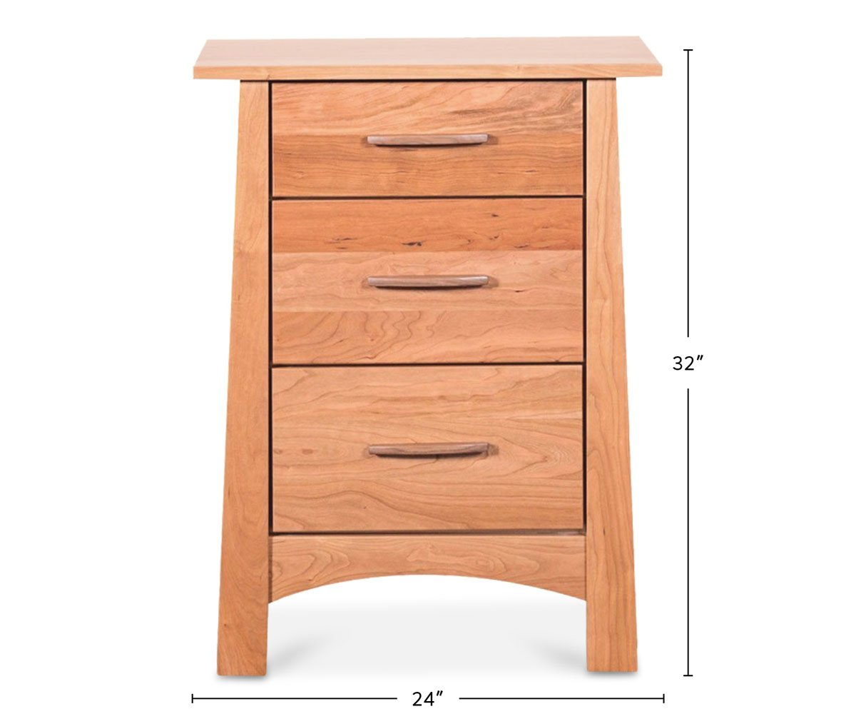 Reflections 3 Drawer Nightstand dimensions