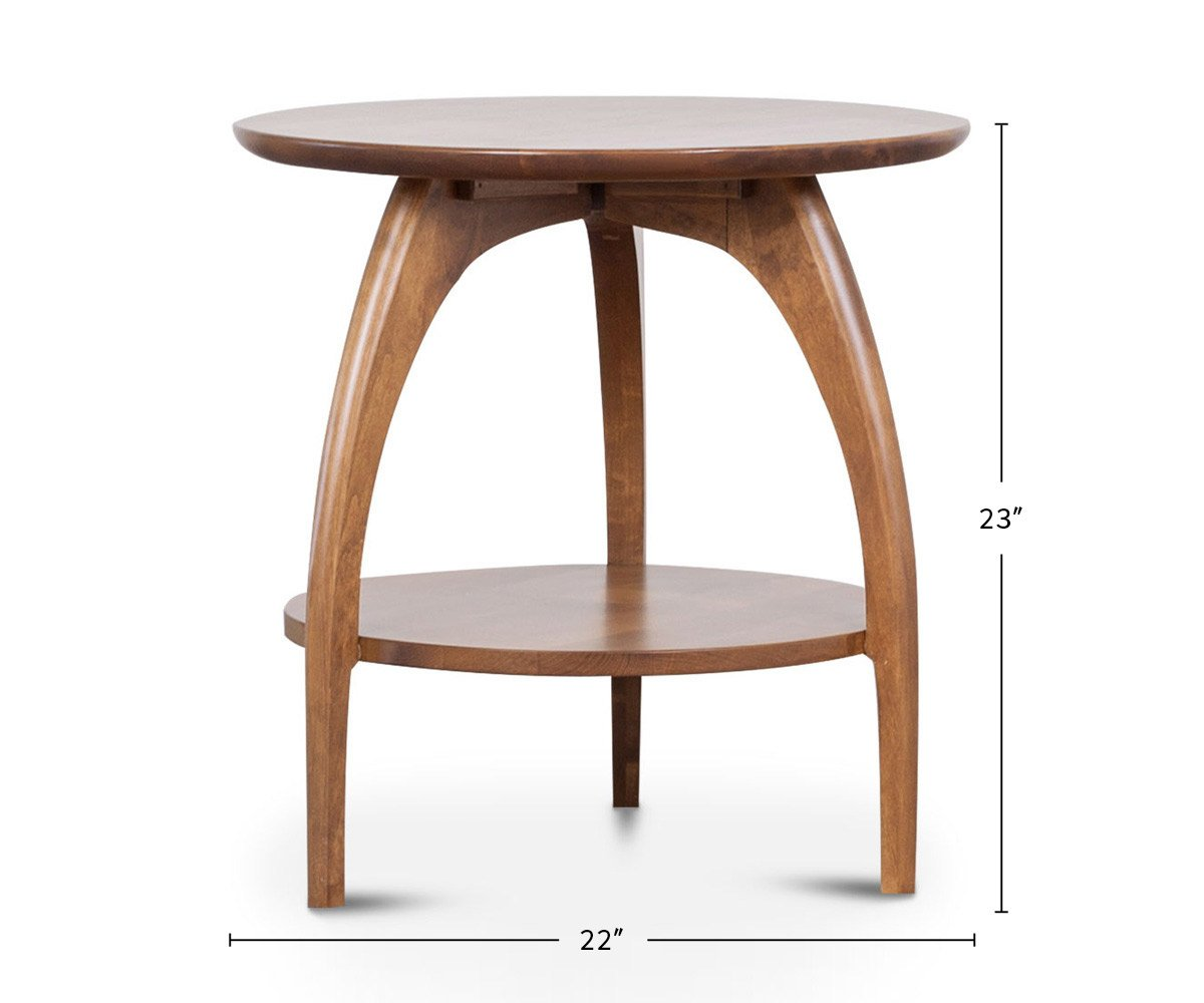 Tibro End Table Round dimensions
