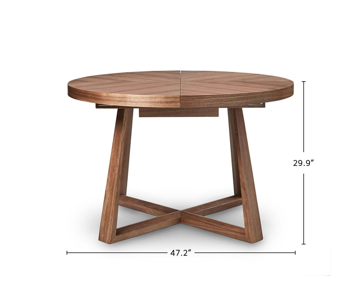 Oliver Round Extension Dining Table dimensions