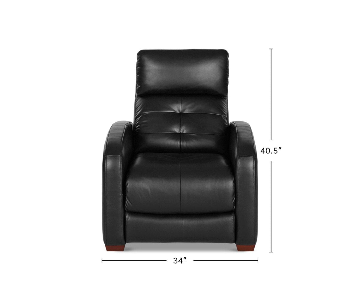 Larus Leather Power Recliner dimensions