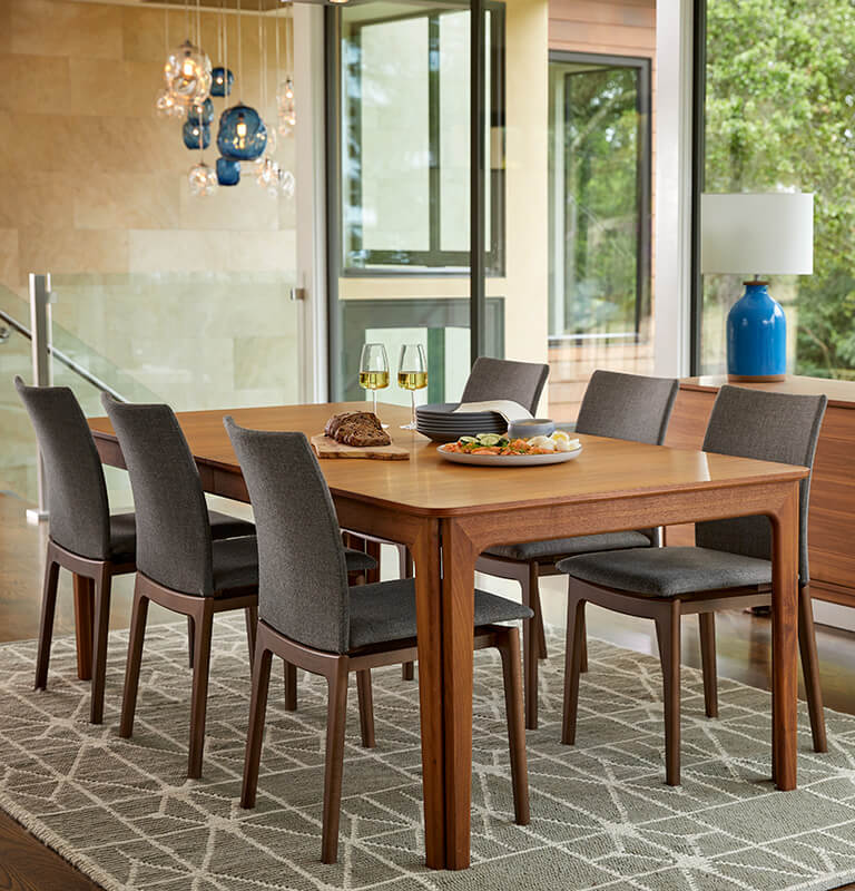 Dining Tables Dania Furniture Custom Modern Wood Dining Room Table