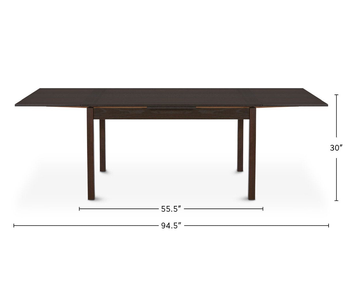 Dinex Alfa Extension Table dimensions