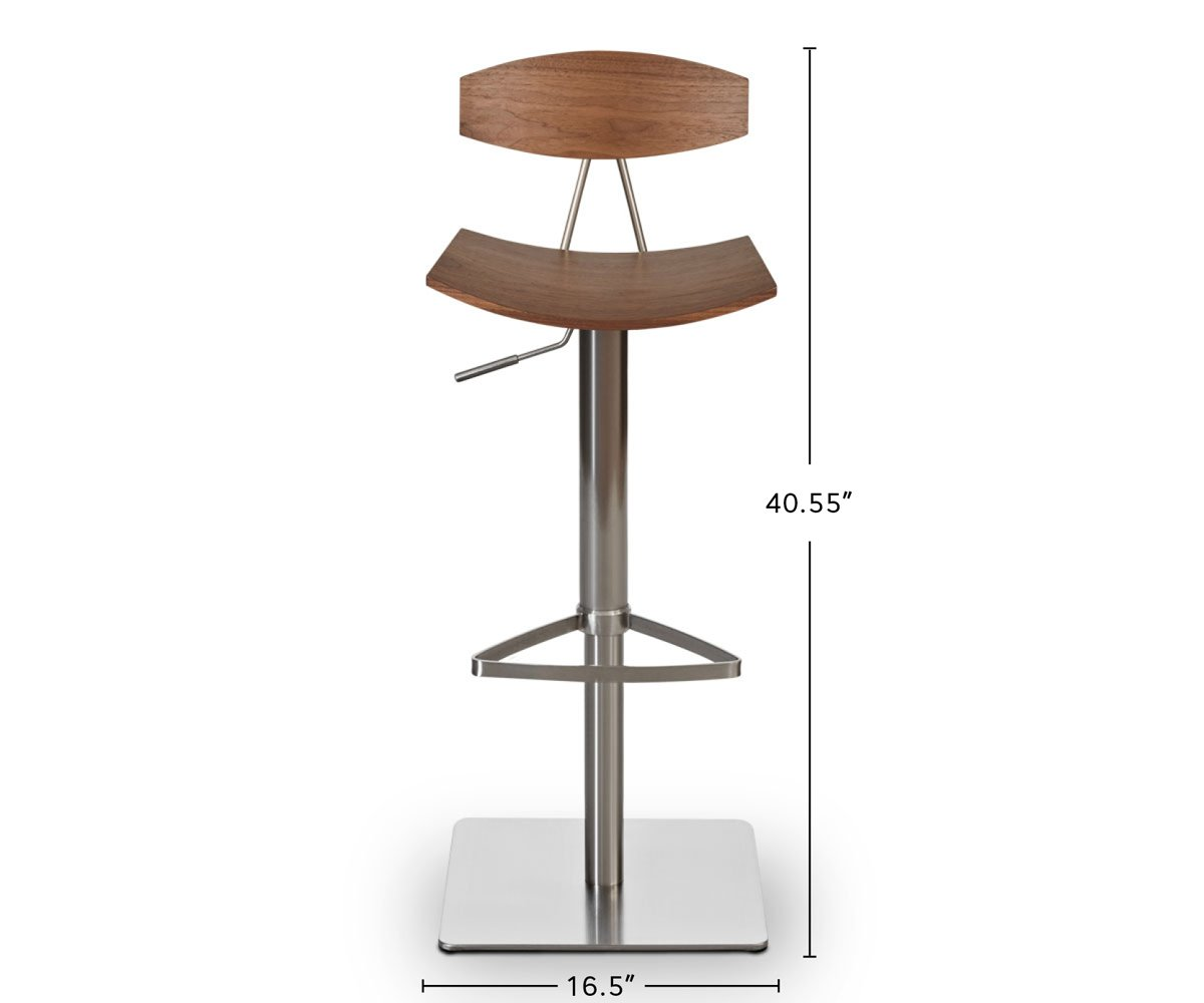 Lena Adjustable Counter and Bar Stool dimensions