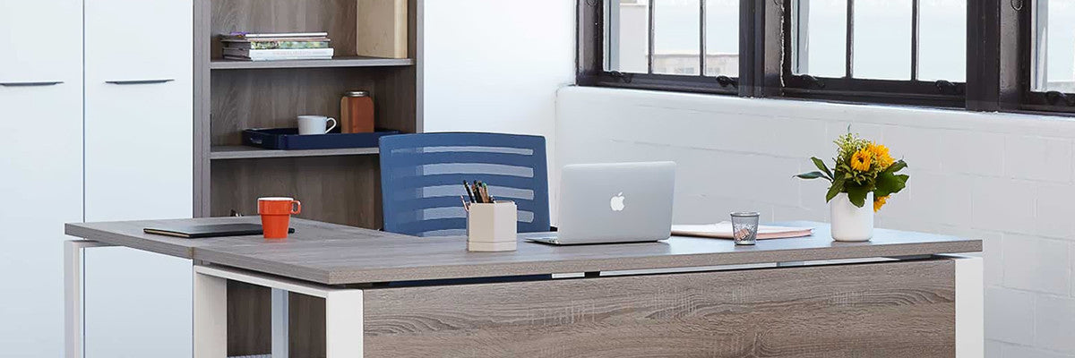 Modern minimalist office workspace