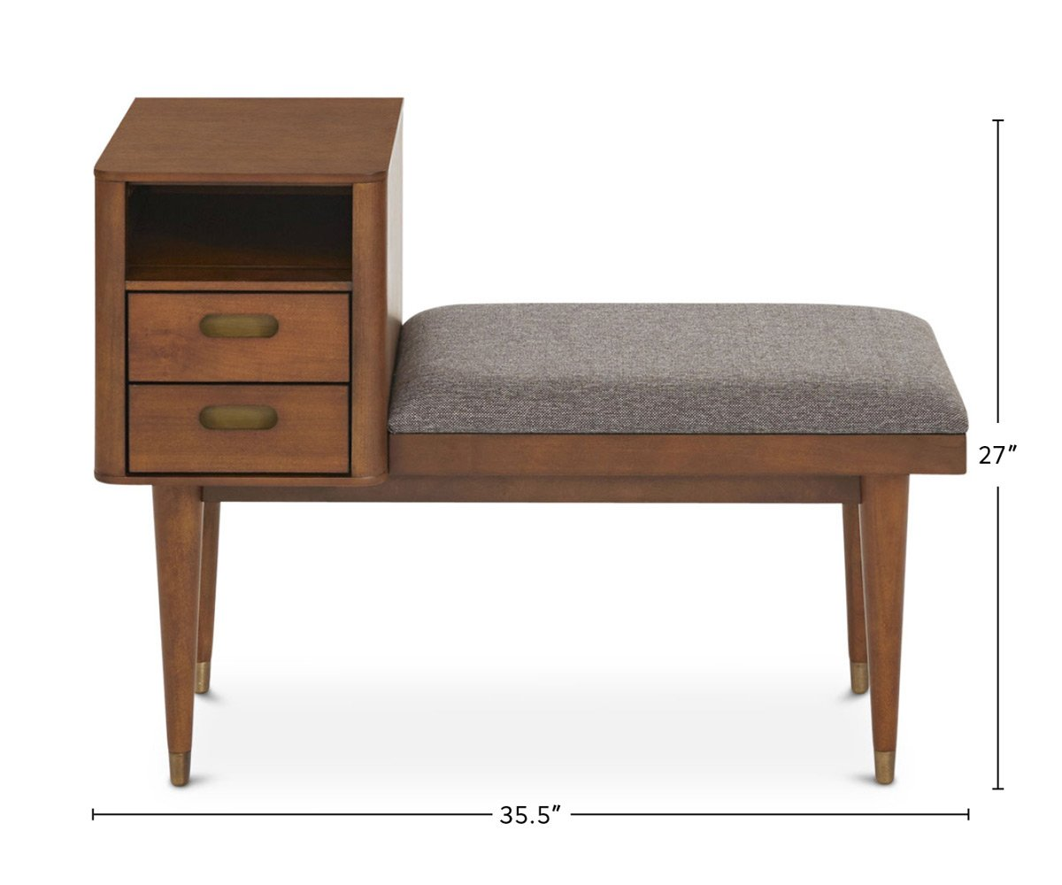 Holfred Bench dimensions