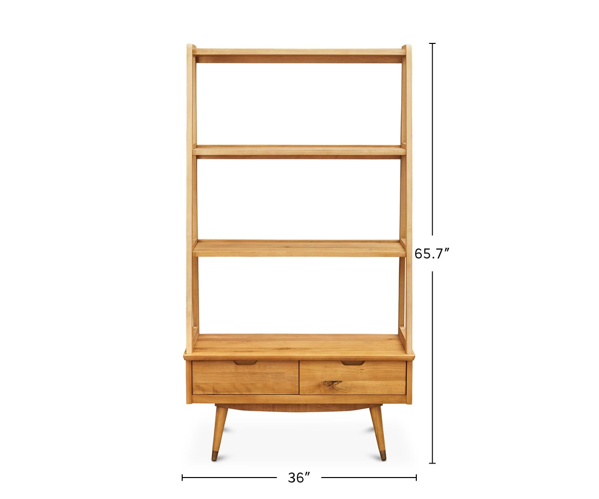 Bolig Large Leaning Bookcase dimensions