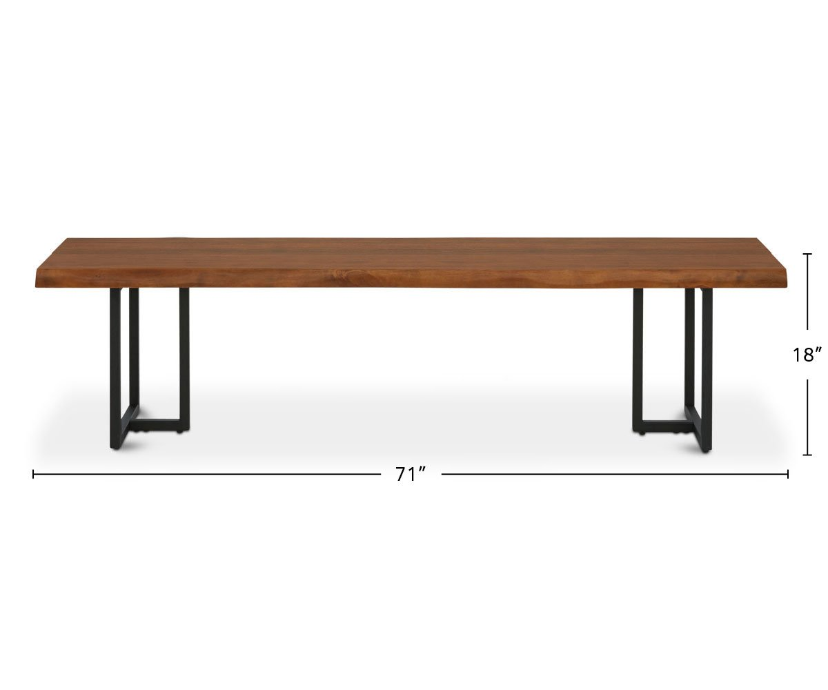 Hasse Dining Bench dimensions
