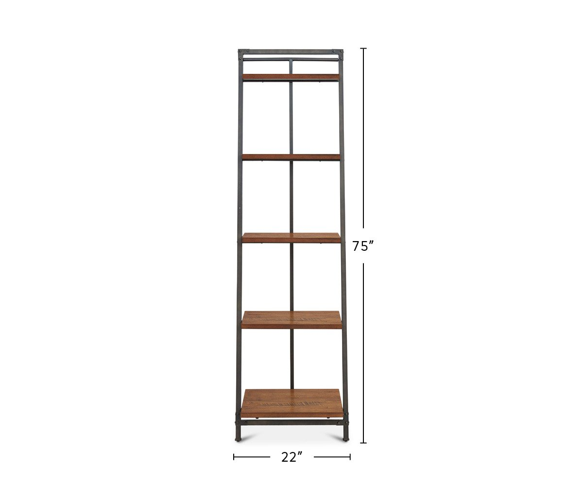 Insigna Leaning Bookcase dimensions