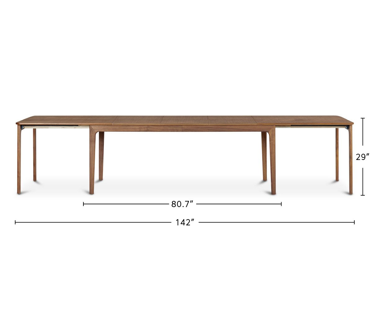 Sundby Extension Table dimensions