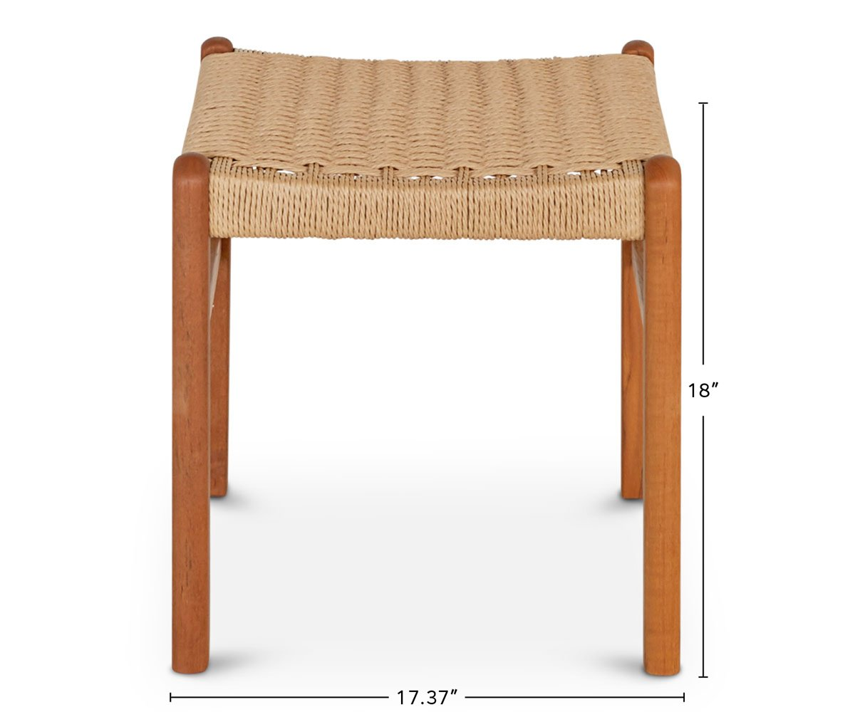 Raholt Rope Dining Stool dimensions