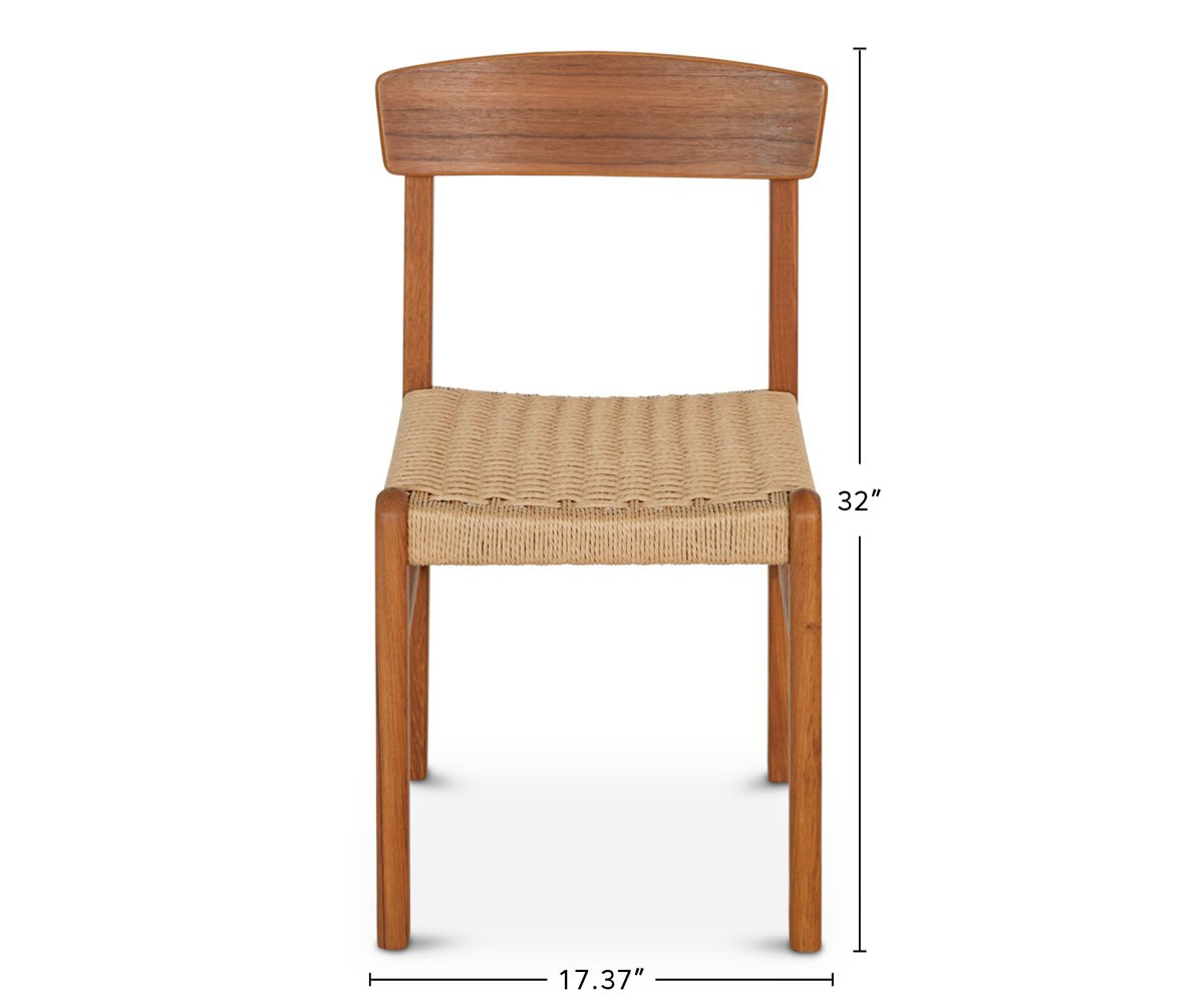 Raholt Rope Dining Chair dimensions