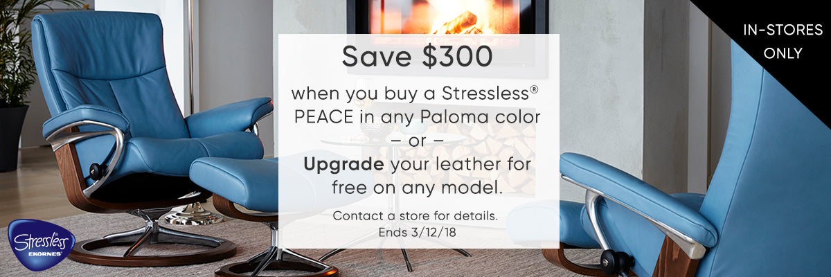Save $300 on Stressless during out in-store event