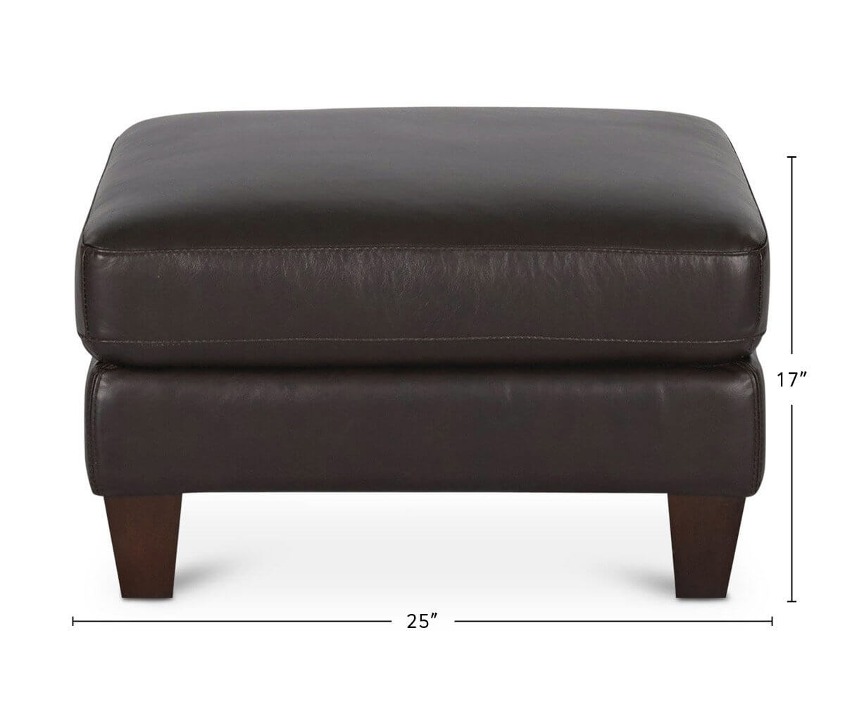 Pavel Leather Ottoman dimensions