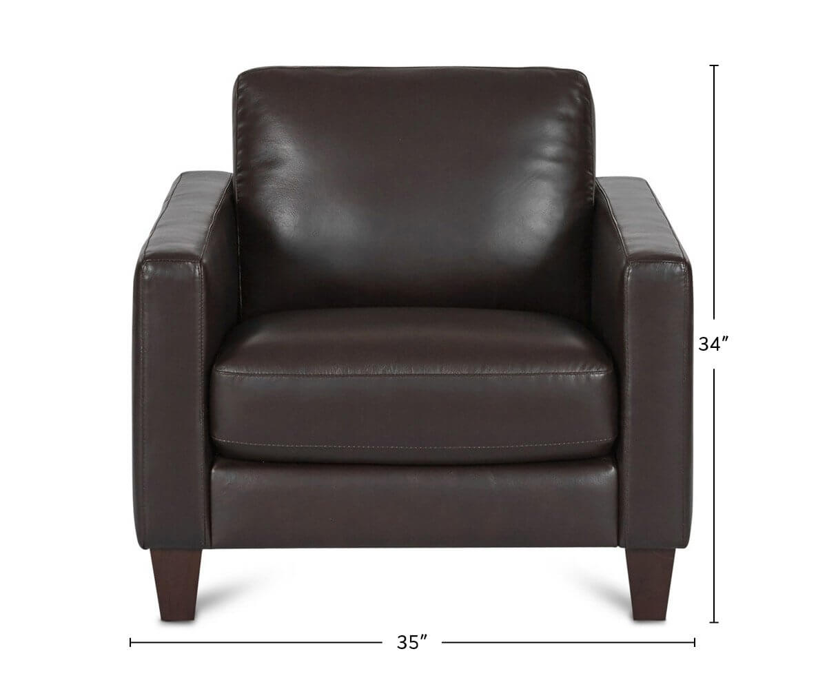 Pavel Leather Chair dimensions