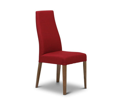 Lussa Fabric Dining Chair - Red