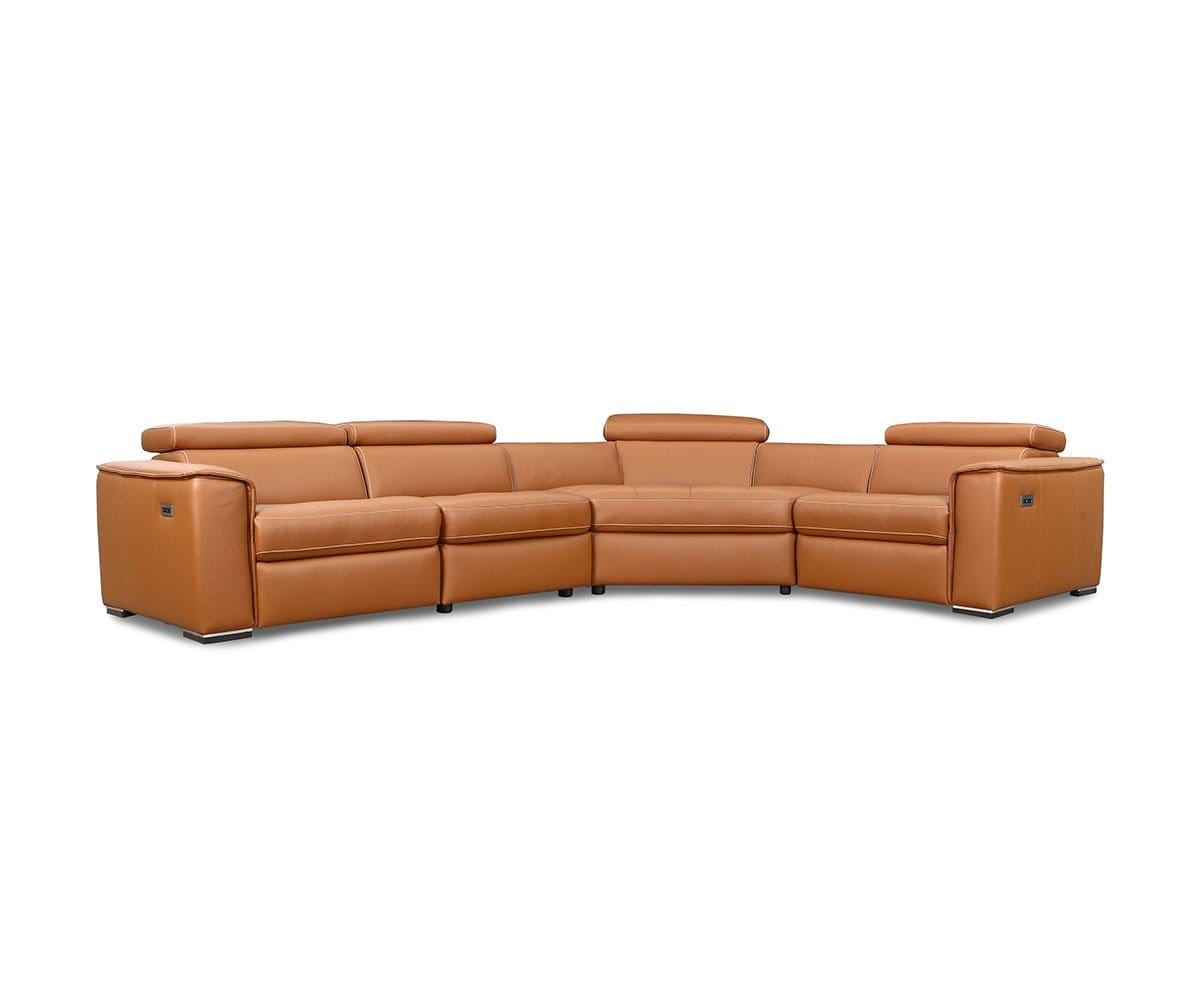 Kopervik Leather Power Reclining Sectional Dania Furniture