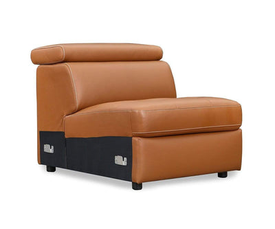 Kopervik Leather Power Reclining Sectional
