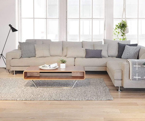 Modern Scandinavian living room sectional design
