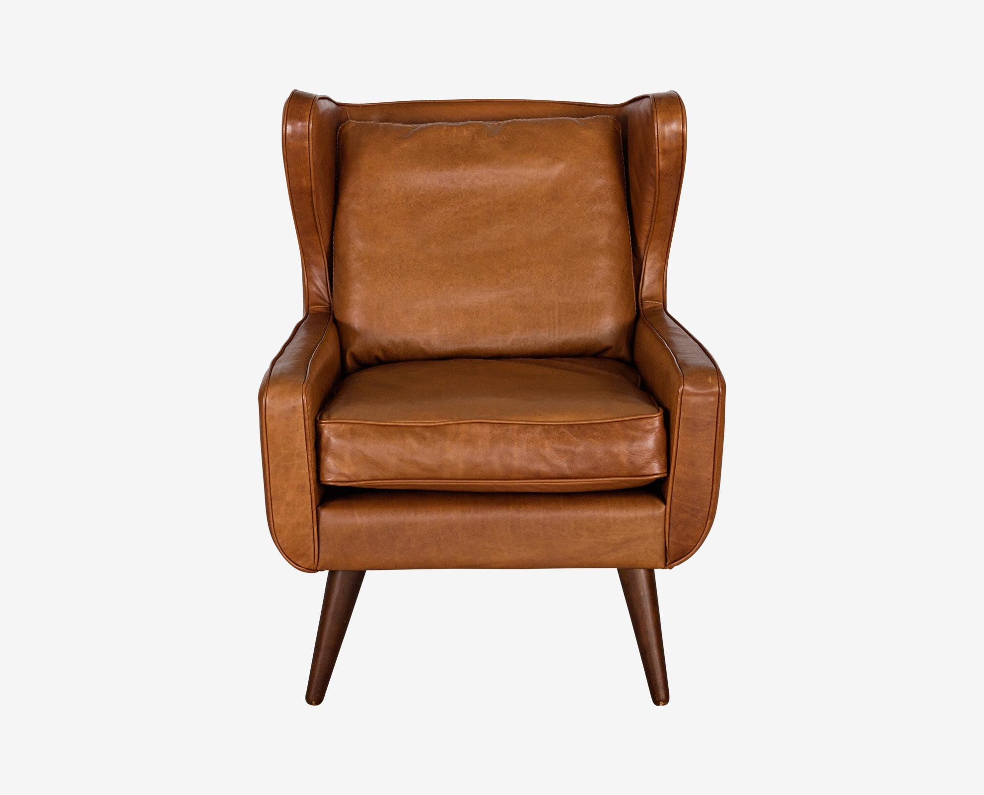 Premium wingback style modern leather chair