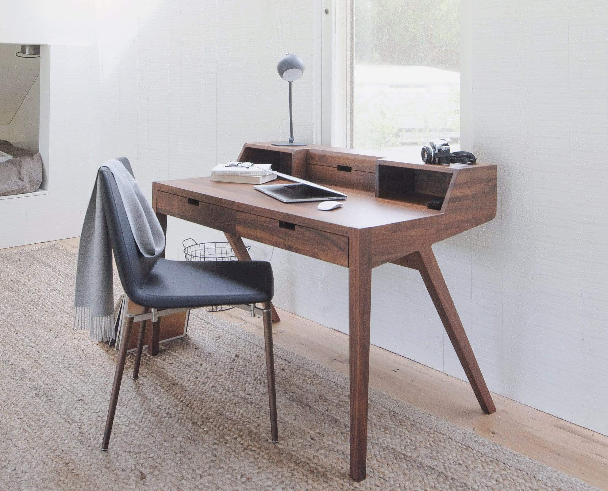 Walnut Finish Desk